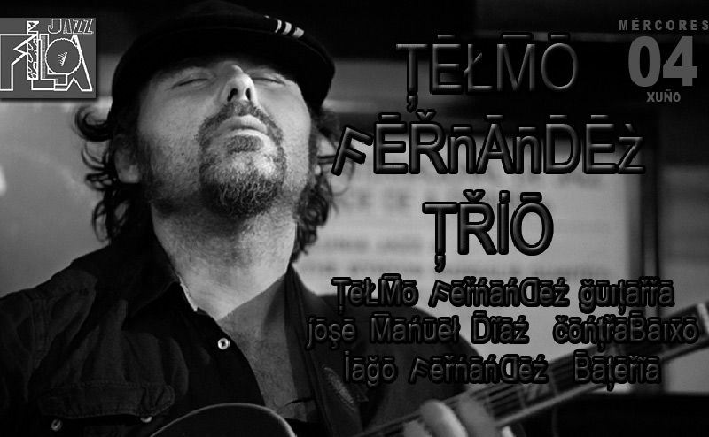 Telmo Fernandez Trío en directo en Jazz Filloa 4 junio 2014