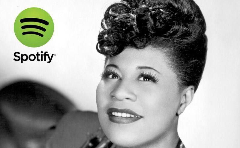 Ella Fitzgerald. Las mejores cantes de jazz. Listas Spotify