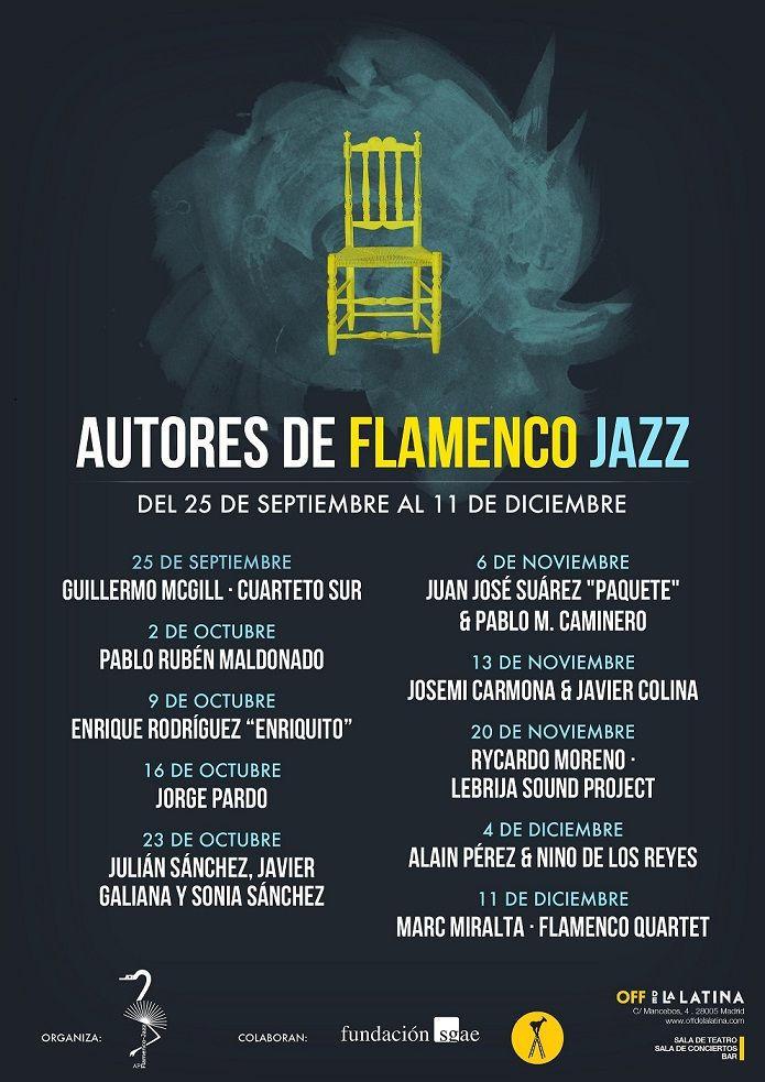 Cartel del Ciclo Autores de Flamenco Jazz