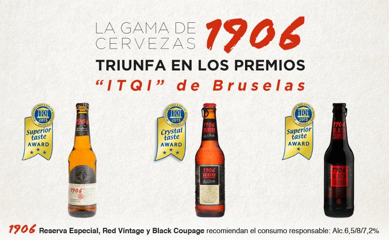 La gama de cervezas 1906 triunfa en los premios ITQI de Bruselas