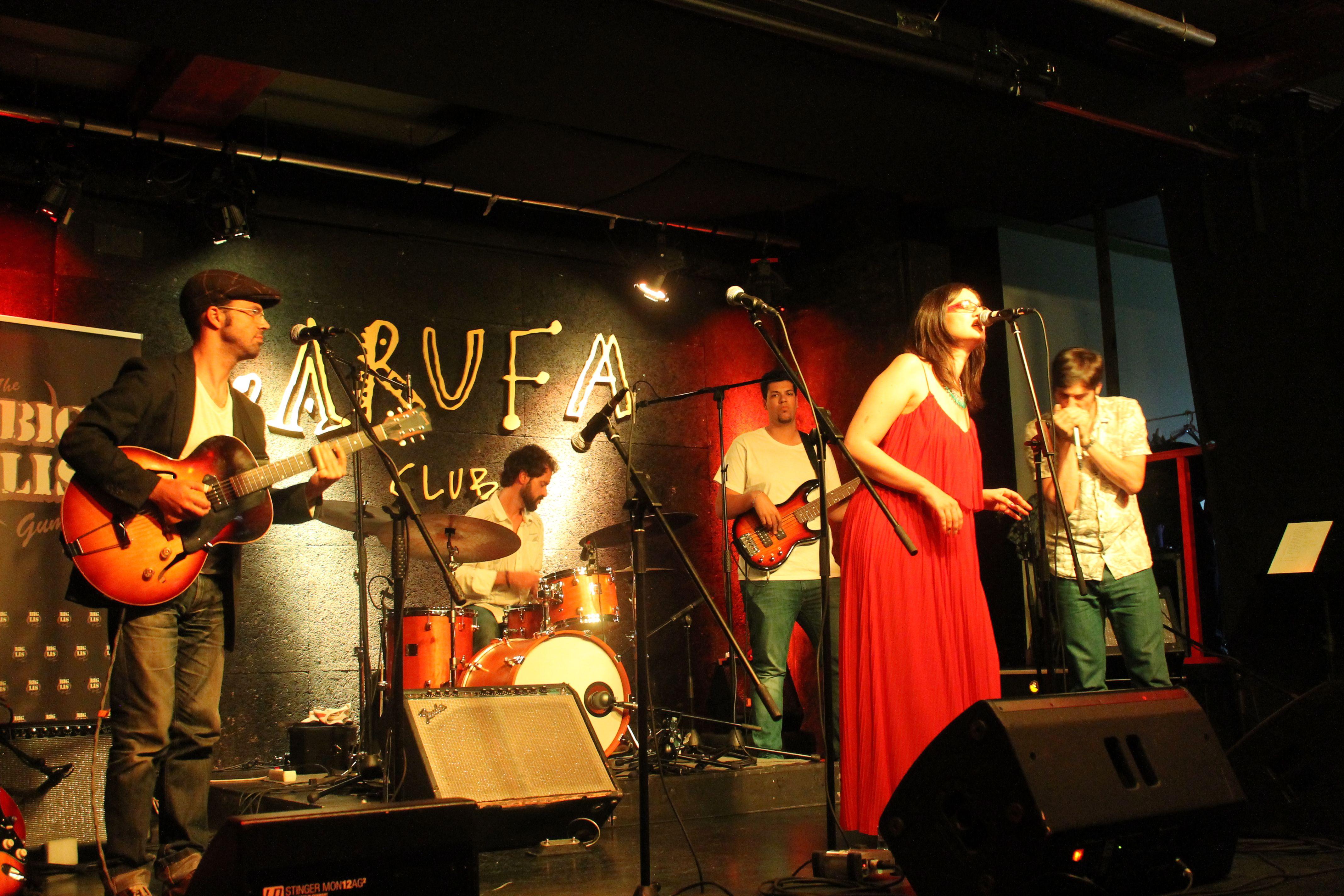 Crónica Edu Big Hands & Whiskey Tren + The Big Lis Gumbo Band. Garufa Club, A Coruña. 11 de julio de 2015.