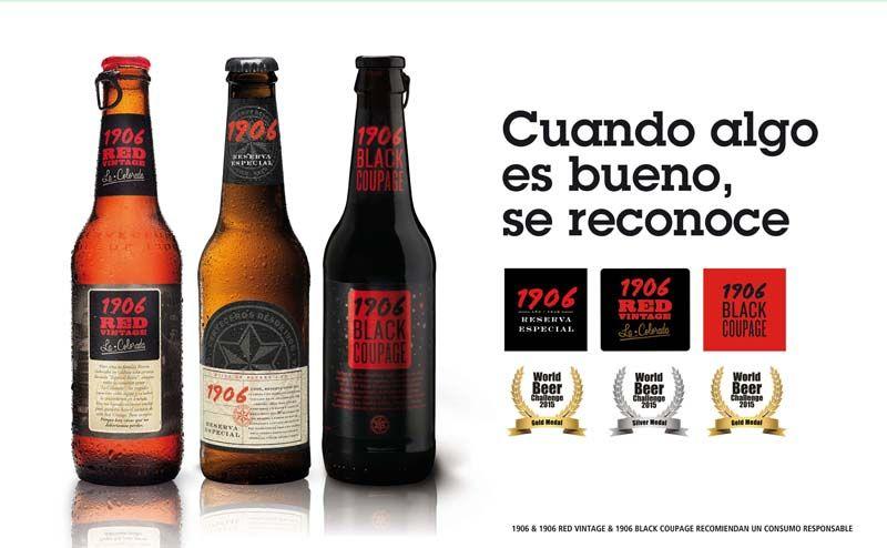 Las 3 cervezas de la familia 1906 han conquistado el World Beer Challenge 2015