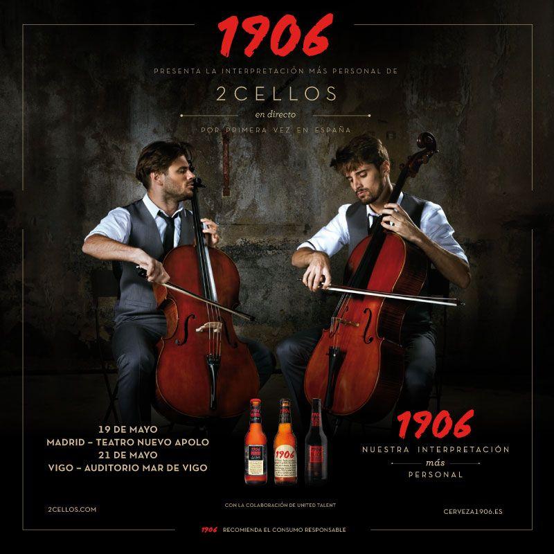 Cartel 2CELLOS conciertos España