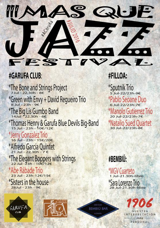 Cartel Más que Jazz