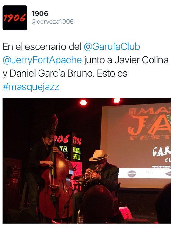 Tweet Jerry González Sala Garufa Club Coruña