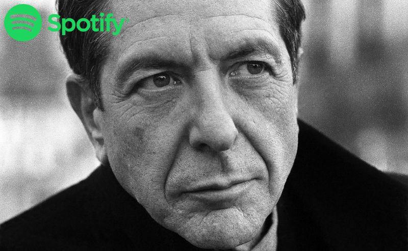 Leonard Cohen lista spotify
