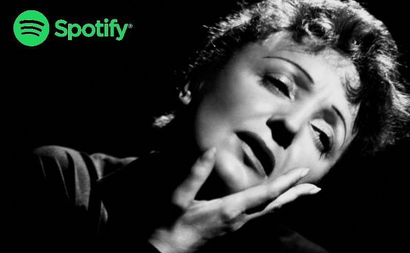 Edith Piaf lista Spotify