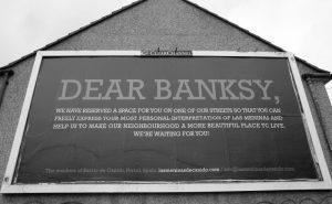 Campaña para localizar a Banksy para Las Meninas en Canido
